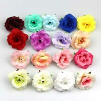 10Pcs Artificial Flower 5cm Silk Rose Flower Head Wedding Party Home Decoration