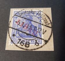 "GERMANY GERMANIA REICH 1919 Occupazione Russa ""LIBAU RED  OVP"" 20pf US Signed"
