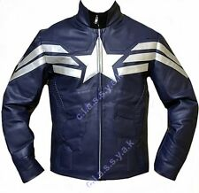 Classyak Fashion Captain America Winter Soldier Real Leather Jacket, Xs-5xl