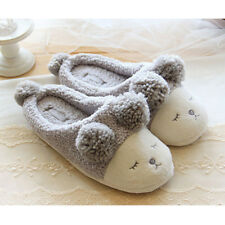 Cute Sheep Shaped Cartoon Slipper Adult Plush Flats Indoor Bedroom House Warm