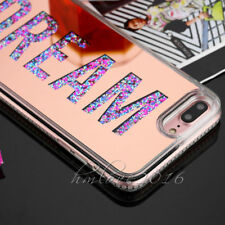 Deluxe Mirror Bling Glitter Dynamic Liquid Soft Case Cover For iPhone 7 Plus 6s