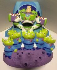 DISNEY Pixar Buzz Lightyear Zurg Green Aliens Toy Story Coin Plastic Bank,Used