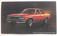 1978 CHEVY NOVA CUSTOM 4-DOOR SEDAN  promotional postcard