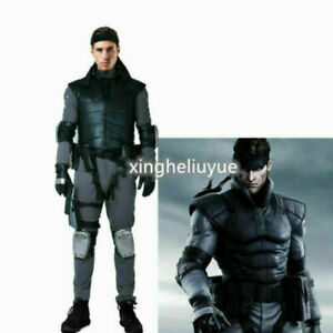 Metal Gear Solid Snake Cosplay Costume with Belts Set Men Halloween Outfit &