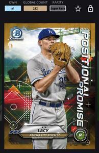 Topps MLB Bunt DIGITAL 21 Bowman Chrome Positional Promise Gold Asa Lacy SR