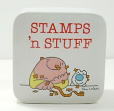 Vintage Ziggy & Fuzz 1980 Stamps 'n Stuff Porcelain Trinket Box Japan
