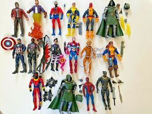 Marvel Legends Hasbro 16 Figure Lot Collection Doom Forge Spider-Man X-Men