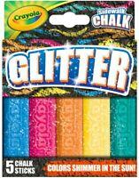 Crayola Glitter Sidewalk Chalk, Outdoor Chalk, Summer Toys Birthday Gift 5 Count