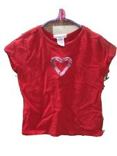 Red Shirt Pink Sparkle Heart Girls Who do You Love S 6/6X