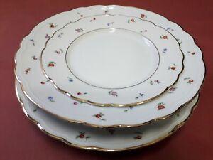 Richard Ginori set piatti posto tavola fiori e oro