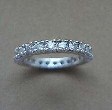 CLASSIC PLATINUM SI1/G 1.10 TCW ROUND CUT DIAMOND ETERNITY BAND RING