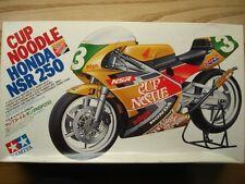 """Tamiya 1:12 Scale """"Cup Noodle"""" Honda NSR 250 1992 Vintage Model Kit New N.Aoki"""