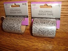 #2 two Rolls Coloring Washi Tape Geometric design Decorating-Crafts & More New