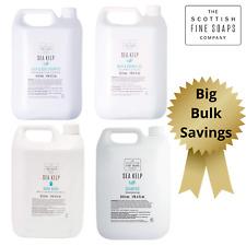 Scottish Fine Soaps Sea Kelp Bulk Refills Hand Wash Shampoo Bath Shower 5L 20L