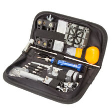 130 tlg Uhr Reparatur Uhrmacherwerkzeug Uhr Werkzeug Tasche Watch Tools