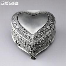 Sankyo Tin Alloy Heart Shape Music Box ♫ Fly Me To The Moon ♫