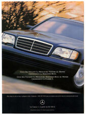 1995 MERCEDES S Class Vintage Original Print AD - Black car photo French Canada
