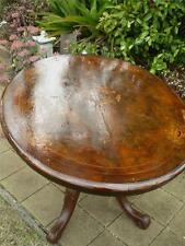 Antique 1800s to 1900s cedar table,enlayed top Exhibition style folding feature
