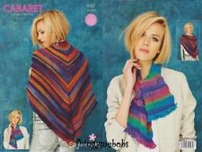 STYLECRAFT 9187 SHAWL/WRAP & SCARF CABARET ORIGINAL CROCHET PATTERN