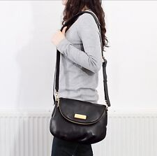 NEW $398 Marc by Marc Jacobs New Q Natasha Leather Crossbody Bag Black CLASSIC