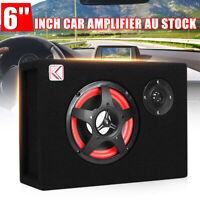 220V/12V 350W 6'' Under-Seat Car Audio Subwoofer Bass Box Sub Woofer Amp Speaker