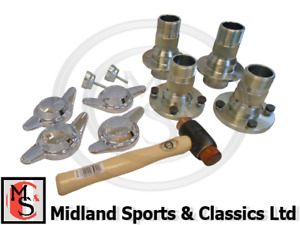 GAC7032 - MGB WIRE WHEEL CONVERSION HUB KIT WITH 2 EAR SPINNERS TUBE AXLE RCK100