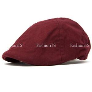 Classic Cotton Linen Duckbill Gatsby Cap Newsboy Ivy Hat Golf Hat Casual Cabbie