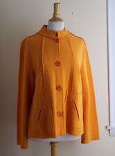 Coldwater Creek Sz M Marigold Deconstructed Art-to-Wear Boiled Wool Funky Jacket