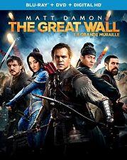 New BluRAY + DVD - THE GREAT WALL - MATT DAMON , WILLEM DEFOE , Jing Tian,