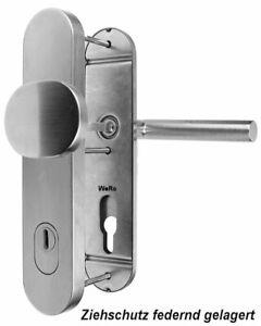 Edelstahl Schutzbeschlag für Haustüren Knopf / Drücker mit Zylinder- Abdeckung
