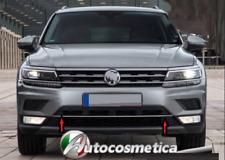 Für VW Tiguan Allspace Grilleiste Stoßstange Zierleisten Edelstahl Chrom ab 2016
