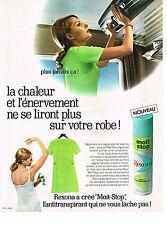 PUBLICITE  1970   REXONA  MOIT STOP   antitranspirant