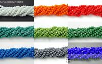 100Pcs Top Quality Czech Crystal Opaque Bright Faceted Rondelle Spacer Beads