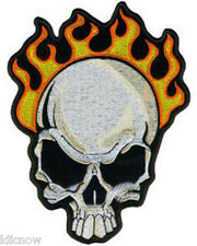 """FIRE SKULL EMBROIDERED PATCH 8CM X 10.5CM(3"""" X 4"""")"""