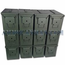 BLANK 12 CANS! TWELVE NEW MIL-SPEC FAT 50 CAL PA108 SAW BOX EMPTY AMMO CANS