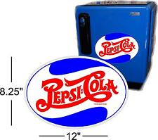 "12""  PEPSI OVAL FOR SODA POP VENDING MACHINE COOLER OR GUMBALL"