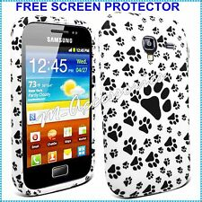 Paws Print Footprint Silicone Gel Case Cover For Samsung Gt-I8160 Galaxy Ace 2