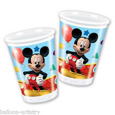 8 Disney Mickey Mouse Playful Clubhouse 200ml Disposable Plastic Cups