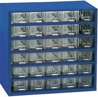 Kleinteilemagazin METALL blau 306x155x282 mm 30 Schubladen + 10 Trennstege