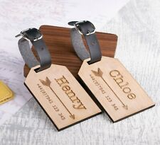 2pcs Personalised Wooden Luggage Tags Mr and Mrs Arrows Tags