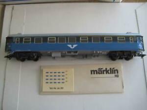 Märklin H0 43771 SJ (Sweden) passenger car 2nd class in its original box - LNIB