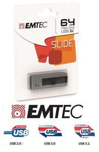 Cle Usb Emtec 64 Go Gb B250 Usb 3.1 Usb 3.0 Usb 2.0 - Garantie 3 Ans - Neuf
