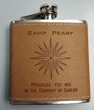 CIA Camp Peary Proud To Be In The Company Of Eagles Leather 6oz Flask