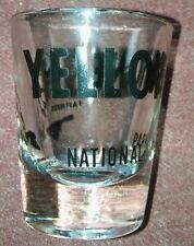 NEW  tall black shot glass Yellowstone National and Park Old Faithful