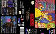 Beauty and the beast Super Nintendo Replacement SNES Box Art Case Insert Cover