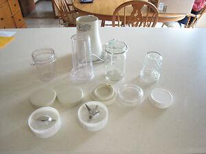 Tribest PB-350 Mason Jar Personal Blender BPA-free plastic cups, etc, two blades