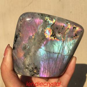 1.4LB Natural rainbow labradorite quartz crystal decoration spectrolite WA625