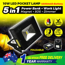 10W Rechargeable LED Work Light Portable Camping Lamp Magnetic Torch USB Flood