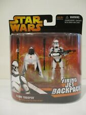 Hasbro Star Wars ROTS Orange Clone Trooper Firing Jet Backpack 2005 New