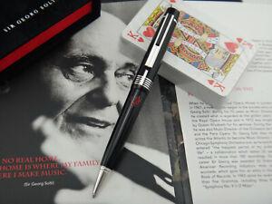 MONTBLANC Donation Pen Sir Georg Solti Ballpoint Pen (BP) 2005 + Playing Cards